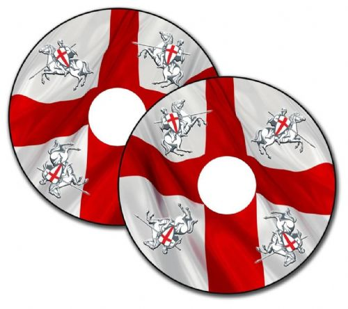 ENGLAND FLAG Wheelchair Spoke Guard Sticker Skins